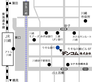 デンコム本社所在地(地図)